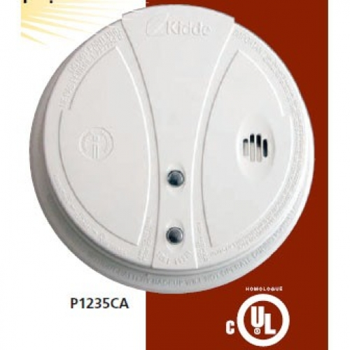 kidde p1235ca smoke alarm with hush button test button ionization technology detects flaming fires direct wire 120v
